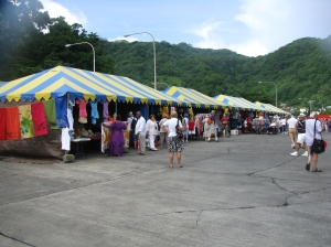 The Dockside Market in Pago Pago
